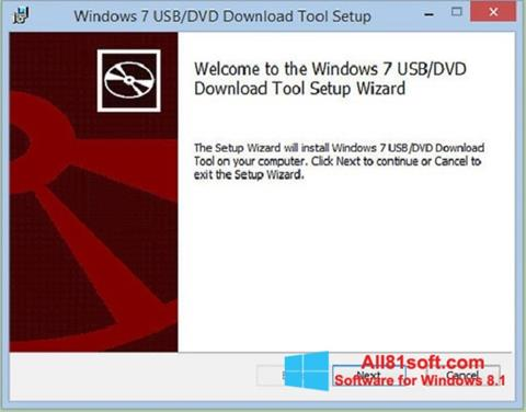 Ekrānuzņēmums Windows 7 USB DVD Download Tool Windows 8.1