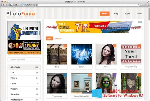 Ekrānuzņēmums PhotoFunia Windows 8.1
