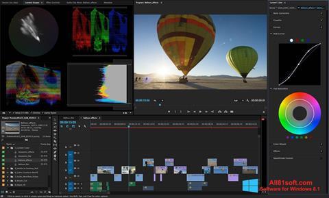 Ekrānuzņēmums Adobe Premiere Pro Windows 8.1