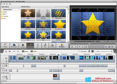 Ekrānuzņēmums AVS Video Editor Windows 8.1