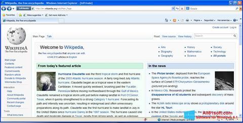 Ekrānuzņēmums Internet Explorer Windows 8.1