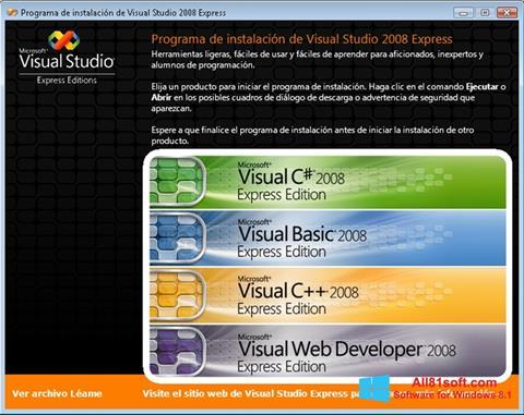 Ekrānuzņēmums Microsoft Visual Studio Windows 8.1