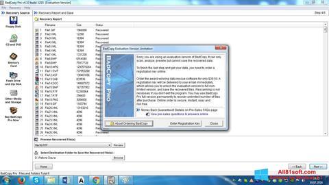 Ekrānuzņēmums BadCopy Pro Windows 8.1