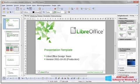 Ekrānuzņēmums LibreOffice Windows 8.1
