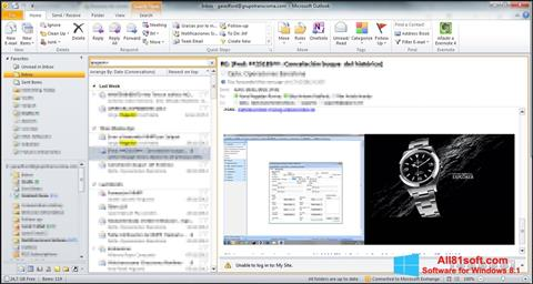 Ekrānuzņēmums Microsoft Outlook Windows 8.1