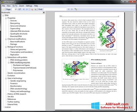 Ekrānuzņēmums Sumatra PDF Windows 8.1