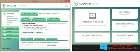 Ekrānuzņēmums Adguard Windows 8.1