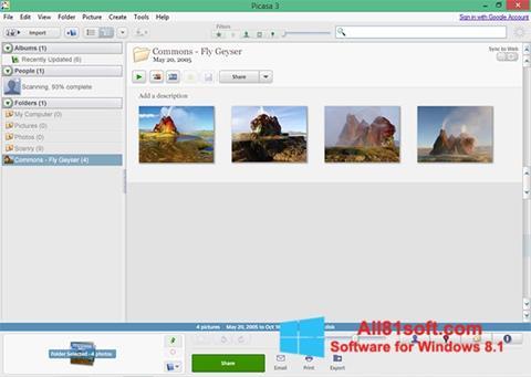 Ekrānuzņēmums Picasa Windows 8.1