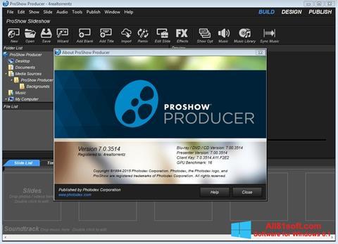 Ekrānuzņēmums ProShow Producer Windows 8.1