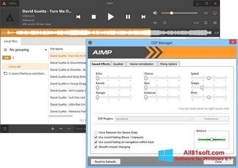 Ekrānuzņēmums AIMP Windows 8.1
