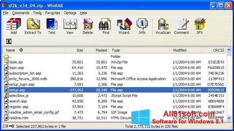 Ekrānuzņēmums WinRAR Windows 8.1