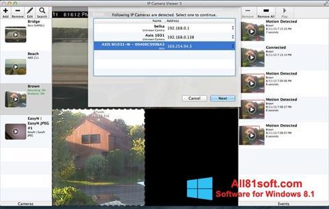 Ekrānuzņēmums IP Camera Viewer Windows 8.1