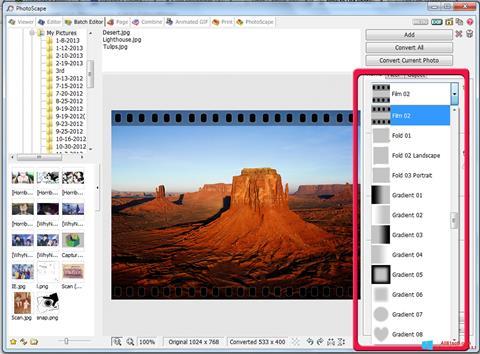 Ekrānuzņēmums PhotoScape Windows 8.1