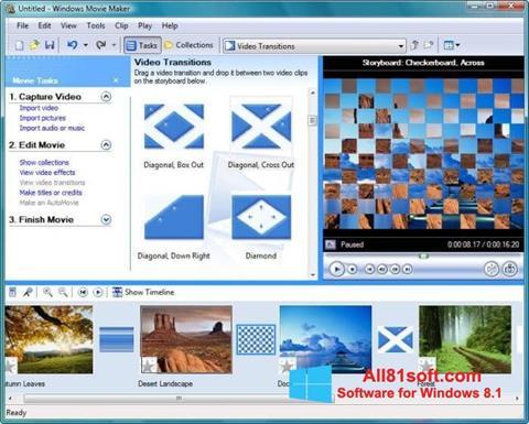 Ekrānuzņēmums Windows Movie Maker Windows 8.1
