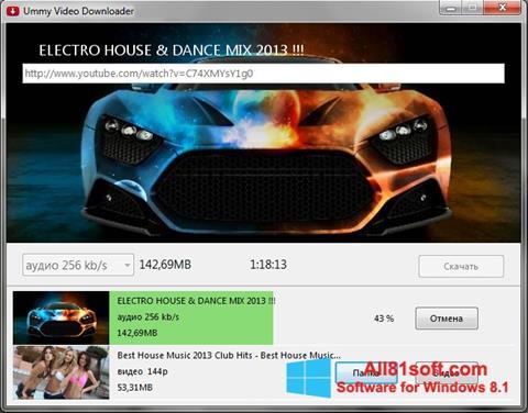 Ekrānuzņēmums Ummy Video Downloader Windows 8.1