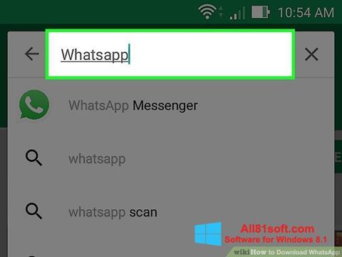 Ekrānuzņēmums WhatsApp Windows 8.1