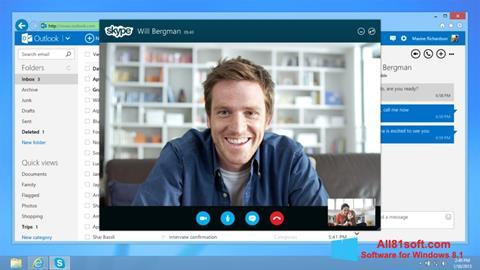 Ekrānuzņēmums Skype Windows 8.1